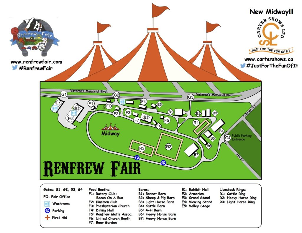 Renfrew Fair Grounds Map